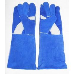 "Sarung Tangan Kulit Biru 16"""